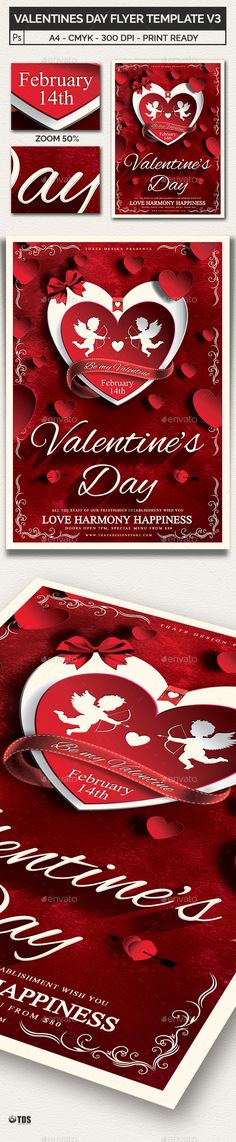 Valentines Day Flyer Template V  Flyer Template Menu Templates