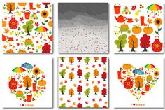 Autumn set of patterns #2 by Orangepencil on @creativemarket