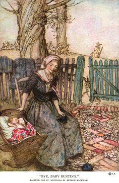 """Bye, Baby Bunting"" - Arthur Rackham by docarelle, via Flickr"
