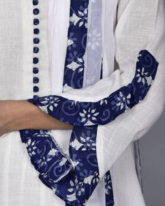 45 Trending sleeve designs for salwar suits Kurti Sleeves Design, Sleeves Designs For Dresses, Neck Designs For Suits, Kurta Neck Design, Dress Neck Designs, Sleeve Designs, Blouse Designs, Salwar Designs, Simple Kurti Designs