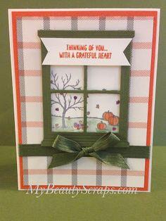 Stampin' Up! Happy Scenes Stamp Set Bundle - BeautyScraps: Grateful Heart Greeting Card