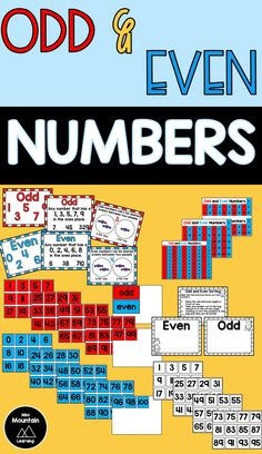Odd and Even Numbers Number Activities, Sorting Activities, Activities For Kids, Odd And Even Games, Even And Odd, Learning Resources, Booklet, Numbers, Mountain