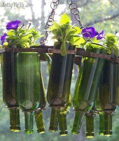 15 incredible Backyard Ideas Using Empty Wine Bottles   Hometalk