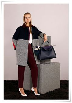 Love this coat from Fendi Pre-Fall 2014 - www.reportista.com