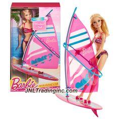 "Barbie Beach Series 12"" Doll Set - LET'S GO WINDSURF! (CCV23) with Barbie Doll and Windsurf"