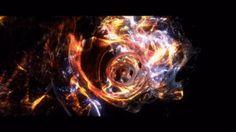 炎と雷が乱れ咲くように迫ってくるGIF画像 created by javonte2optio