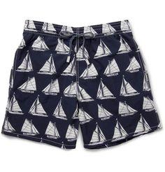 Vilebrequin Moorea Mid-Length Boat-Print Swim Shorts.