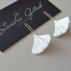 "57 Likes, 4 Comments - Sandra Žitnik (@sandrazdesign) on Instagram: ""One more beauty  Ginkgo   more love  #sandrazdesign #ginkgo #design #etsy #silver #earrings…"""