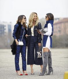 Nicole Pinheiro, Helena Lunardelli e Marilia no street style das principais fashion weeks