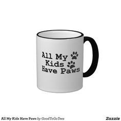 All My Kids Have Paws Ringer Coffee Mug
