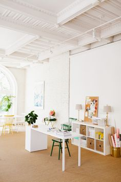 coco+kelley's all white office in seattle