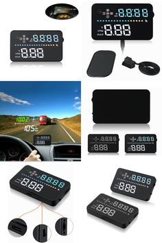 "[Visit to Buy] 3.5""Auto Car HUD GPS OBD Head Up Display digital car speedometer , Overspeed Warning Dashboard Windshield speed Projector #Advertisement"