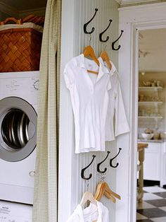 hooks in laundry room