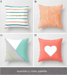 summer throw pillow ideas