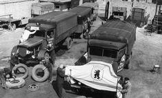 Vorbereitung der LKW's in Berlin 1949(Aufhebung der Blockade)