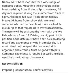 Yeah, this nanny job is a really, really bad deal. #nanny #position #offer #wtf #ridiculous