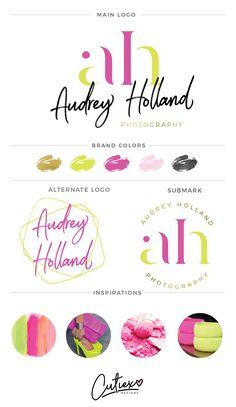 Watercolor Premade Logo - Modern Branding Kit Logo - Blogger Logo - Minimalist Logo - Branding Package - Branding kit - Predesigned Logo by CutiexoTreasures on Etsy https://www.etsy.com/listing/504657814/watercolor-premade-logo-modern-branding