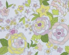 Alexander Henry Calyx Cotton Fabric in Light Floral Print by HouseOfJdawn on Etsy