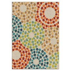 Orian Rugs Polka Circles Promise Indoor/Outdoor Area Rug - Multicolor : Target