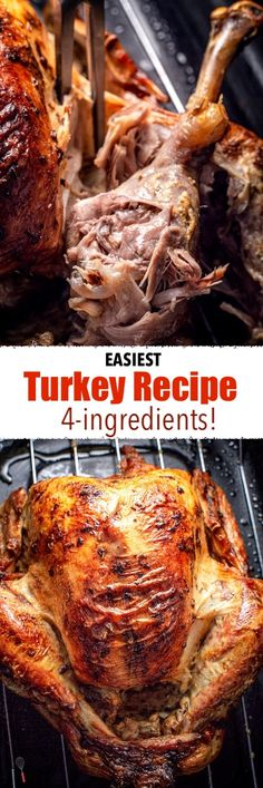 This is the EASIEST Turkey recipe to make because you only need 4 ingredients and these helpful tips! Make this your Christmas or Thanksgiving turkey and fear not to make turkey with this easy step-by-step tutorial! Easy Turkey Recipes, Great Recipes, Chicken Recipes, Pumpkin Recipes, Thanksgiving Dinner Recipes, Thanksgiving Turkey, Holiday Recipes, Christmas Desserts