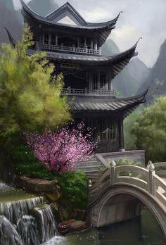 Bridge To The Pagoda. China Antigua, Geisha, Japanese Temple, Japanese Pagoda, Samurai, Beautiful World, Beautiful Places, Noah Ark, Beijing