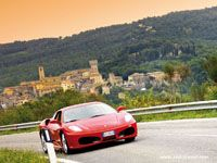 Italy is always a good Idea!  Red Travel  #Ferrari F430 Coupe #Tuscan Town