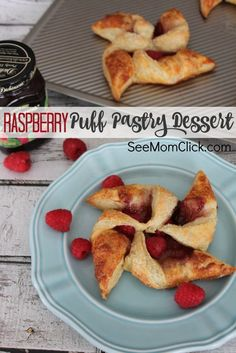This Easy Raspberry Puff Pastry Dessert recipe takes only a few minutes to make and is simply delish! Need an easy dessert recipe? This is it! (Oh, and it doubles as breakfast, so, bonus!)