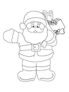 Printable Christmas Coloring Pages: Santa Claus (via Parents.com)