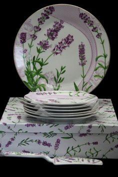 Sada 8 tanierov + lopatka Levanduľa Plates, Tableware, Licence Plates, Dishes, Dinnerware, Griddles, Tablewares, Dish, Place Settings