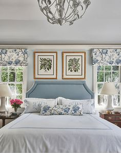Exploring the Portfolio of Long Island Interior Designer Amal Kapen – Blue and White Home Home Design, Decor Interior Design, Design Ideas, Bed Design, Interior Livingroom, Interior Plants, Furniture Design, Interior Decorating, Home Bedroom