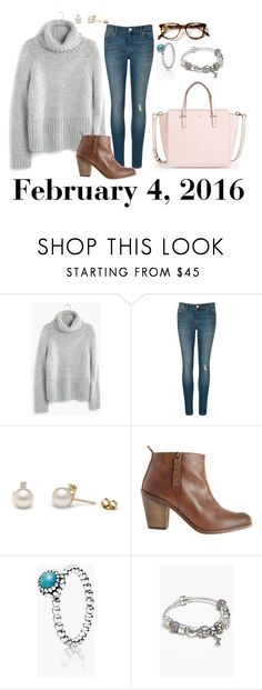 """""""February 4, 2016"""" by jennie-le on Polyvore featuring Madewell, Ted Baker, Hoss Intropia, Pandora, Kate Spade, women's clothing, women's fashion, women, female and woman"""
