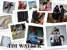 """Timothy """"Tim"""" Walker (nacido en 1970) es un fotógrafo de moda británico. Tim Walker ha trabajado para la revista Vogue. Puesta en escena y motivos románticos caracterizan su estilo. Walker también hace trabajos de cine / vídeo."""