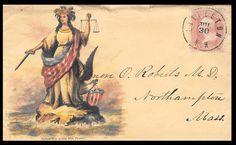 Genuine 1860s Envelope With Civil War Patriotic