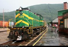 RailPictures.Net Photo: GMRC 405 Green Mountain Railroad Alco RS-1 at Bellows Falls, Vermont by Joel Hinkhouse