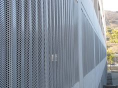 Perforated 7 8 Quot Corrugated Panels In Old Zinc Grey On The