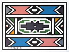 Esther Mahlangu Africa Symbol, African Patterns, Bronze, Symbol Design, Out Of Africa, Afrikaans, African Art, Urn, South Africa