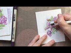 Art Impressions Watercolor Mini Stamp Set Tutorial - YouTube