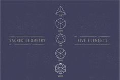 5 Elements - Sacred Geometry icons by Marish on Creative Market
