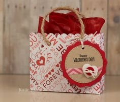 Valentine bag - Crafting with Katie: MCT What a Treat Wednesday