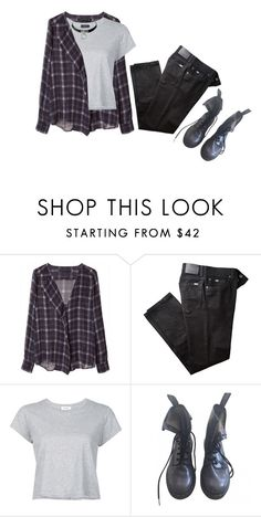 """""""Get me"""" by brm99 ❤ liked on Polyvore featuring Zara, BRAX, RE/DONE and Dr. Martens"""