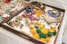 Gorgeous #accessoires tray at the #ODLRlive show #NYFW @SophieElgort