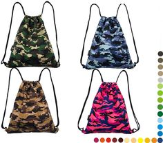 Different Polyster Army camouflage Drawstring Bags  $1.00-3.00 / Piece 3000 Pieces (Min. Order)