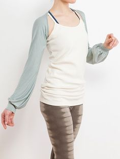 Warmly Bolero --  Keeps body warm , a convenient outer wear for workouts. Extremely lightweight Stays in place no matter how you move your arms Material used is extremely stretchy and incredibly soft and silky The usage of natural dyes produces an earthly colour range which provides a soft undertone, effecting in a touch of femininity. #yoga #wear #clothes #botanical #natural #dye #ecofriendly #organic #cotton #tiedye