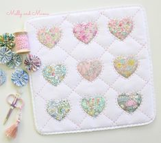 Hearts of Friendship Mini Quilt - Molly and Mama