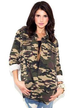 a7e442670c3 Lush Clothing Studded Army Jacket West Coast Wardrobe.  96.00 Camouflage  Fashion