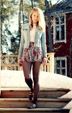 Pantyhose Fashion, Pantyhose Outfits, Fashion Tights, Tights Outfit, Urban Fashion, Girl Fashion, Fashion Outfits, Womens Fashion, Dandy