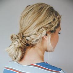 "LaurenConrad.com on Instagram: ""monday just got a little bit brighter, thanks to this gorgeous, double dutch braided bun by the beautiful @amberfillerup! head to laurenconrad.com for the full tutorial and see if you can recreate this look yourself """