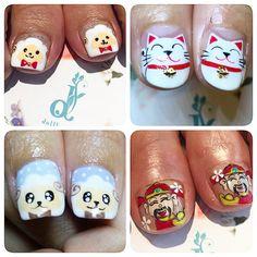 Icons done for cny  #nails #nailsg #nailart #nailmax #nailwow #nailporn #nailswag #nailmania #nailqueen #nailsalon #nailtrend #nailaddict #naildesign #nailstagram #nailsingapore #igsg #igers #igdaily #instapic #instadiary #instanails #dollhousesg #dollhousenails #manicure #gel #gelish #gelnails #cny #sheep