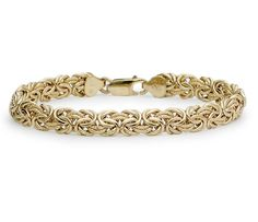 Byzantine Bracelet in 18k Yellow Gold #BlueNile #MothersDay #jewelry