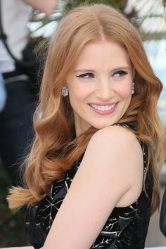 """Rose gold and copper are colors that accentuate and reflect beautifully on all skin tones. Depending on what you are looking for with gold hues, you could also go more strawberry blonde. """"It can warm up cool skin tones and give an enhanced healthy glow to those who already have a warm complexion,"""" says Haliti. """"Jessica Chastain looks stunning in more coppery golden hues and if you're looking for something more rose, Sienna Miller is a perfect example.""""   - ELLE.com"""